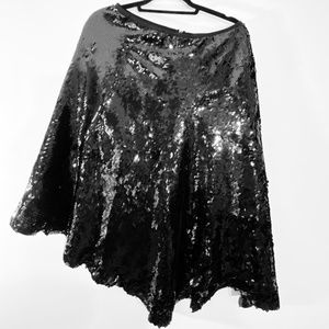 BCBGMAXAZRIA Black Sequin Skirt